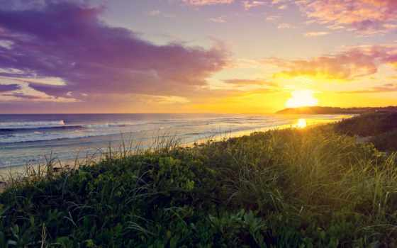 море, закат, берег Фон № 57055 разрешение 1920x1080