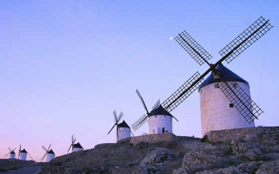 mill, landscape, мельниц, ветряных, город, мельницы, ff, силуэт, старая,