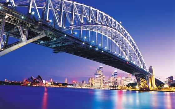 мост, чёрно, мира, белые, фотообои, интерьере, архитектуры, сиднее, крупных, городов, нояб,