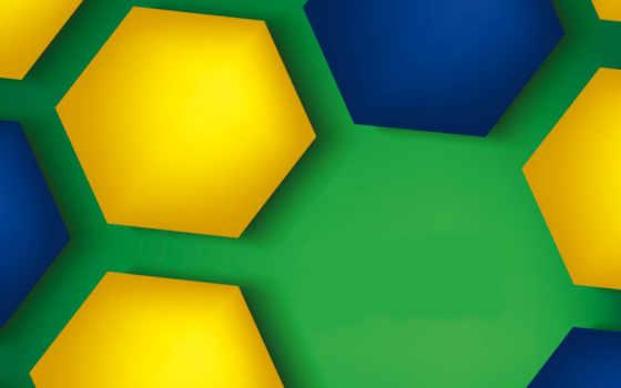 зеленый, соты, желтый