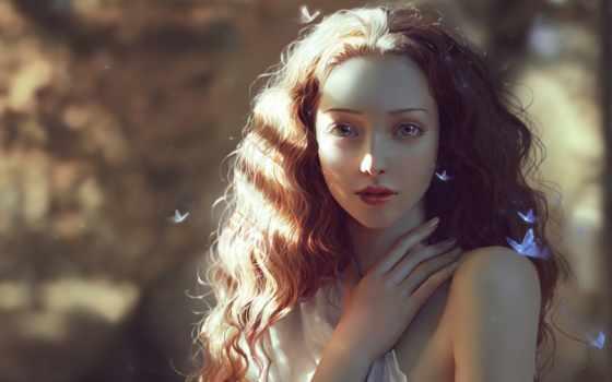 fantasy, art, digital, girls, images, фотографий, бабочкой, фантастика, девушка,