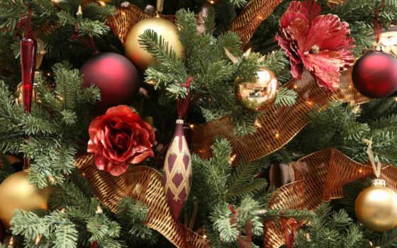 год, christmas, новый, tree, игрушки, зима, desktop, nice, download, parede, papel, праздник, весь,