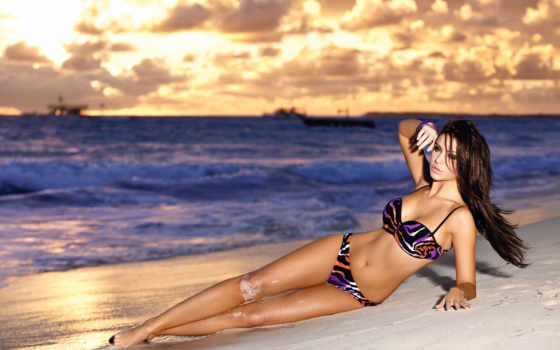 ocean, закат, пляж Фон № 52967 разрешение 2401x1600