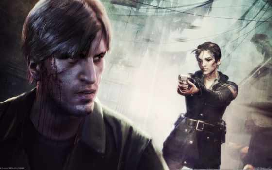 hill, silent, downpour