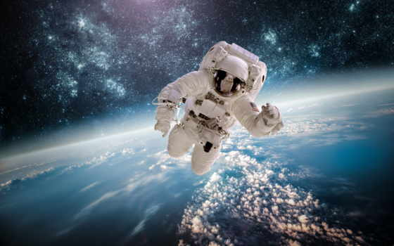 astronaute, espace, dans