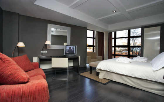 спальни, design, обоями