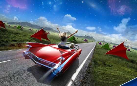 парень, машина, девушка, дорога, поездка, freedom, авто,