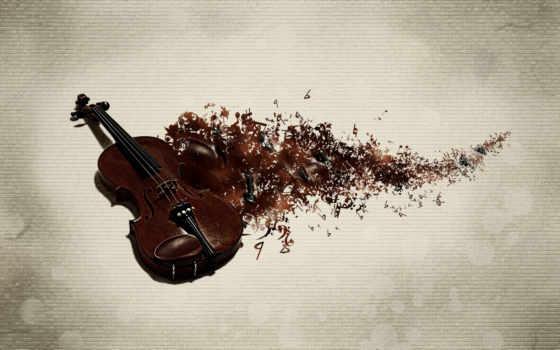 скрипка, инструмент, музы, classic, ноты, текстура, ключи,