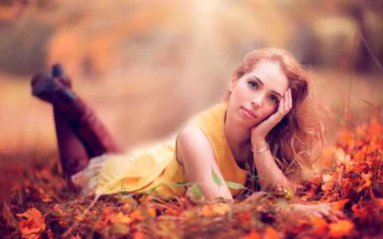 осень, платье, сапоги, взгляд, devushki,