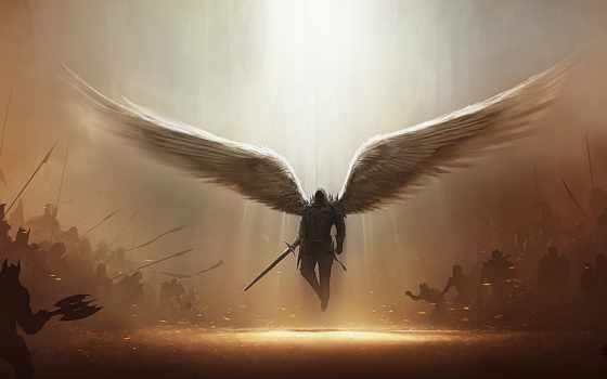 diablo, papel, angel, tyrael, parede,