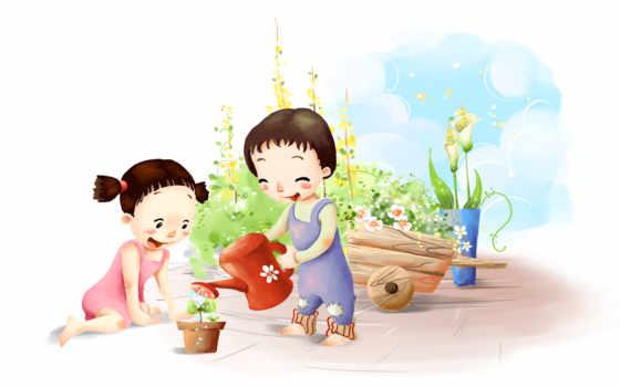 маленькие садовники