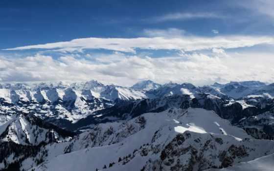 альпы, горы, снег