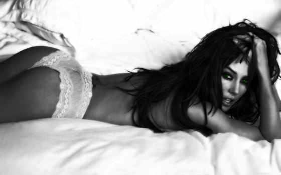 brunette, белая, чёрно, красивый, лежит, girls, качественные, другие, возможность,