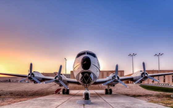 авиация, самолёт, закат