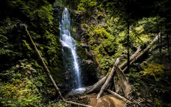 falls, заводь, ягода, california, красивых, природы, пейзажей, подборка, iphone, лес, сша,