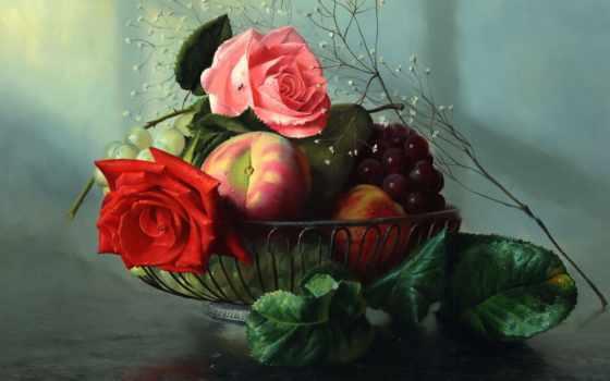aleksey, antonov, artist, натюрморты, cvety, алексея, антонова, художника, россии,