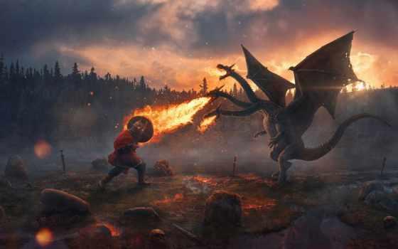 змей, gorynych, сказ, герой, russian, дракон