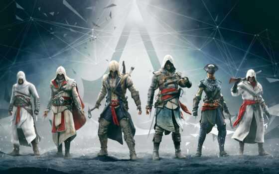 creed, assassin, альтаир, эцио, откр, game, коннор, detailed, увеличить, серия, funny