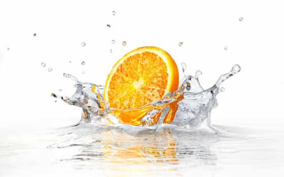 апельсин в воде