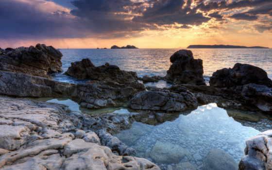скалистый, берег, пляж, hawaii, resolution, desktop, themes, категория, ultimate,