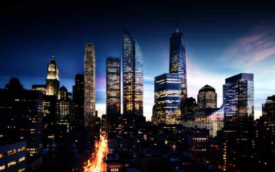 город, ночь, светящийся, ночных, городов, чёрно, виды, банка, белые,