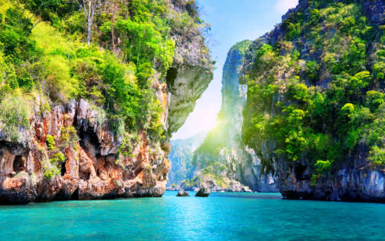 природа, море, landscape, природой, water, скалы, красивые,
