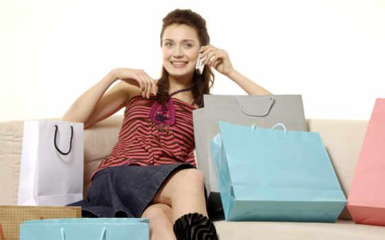 девушка, шопинг