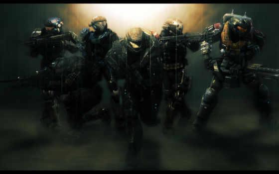 солдаты, игры, halo, team, noble, reach, спартанцы, spartan,