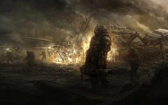 взрыв, битва