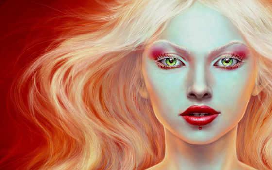 девушка, цифровая, будущего, blonde, beauty, cinabre, desktop, diese, девушки, tapeten, similar, fantasy, лицо,