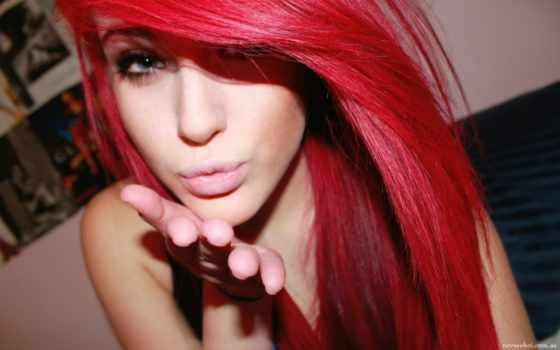 волосы, red, девушка