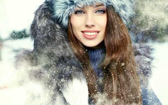 девушка, winter, шапка