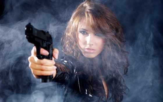 devushka, vzglyad, oruzhie, devushki, дым, от, только, оружием, девушкой,