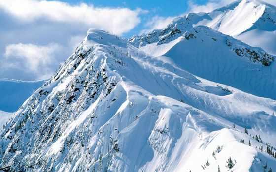 горы, снежные, winter, reki, банка, горные, озера, горах,