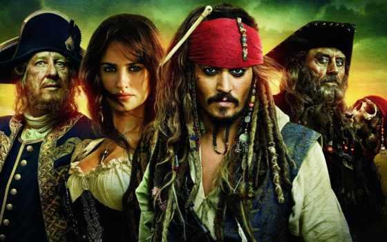 депп, джонни, карибского, cruz, моря, penelope, пираты, берегах, странных,