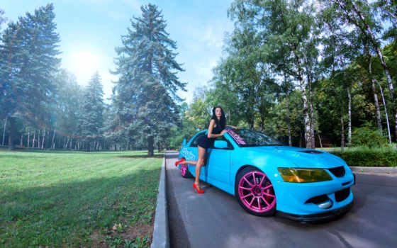 mitsubishi, девушка, devushki, девушкой, авто, автомобилями, лансер, машина, машины, каблуки,