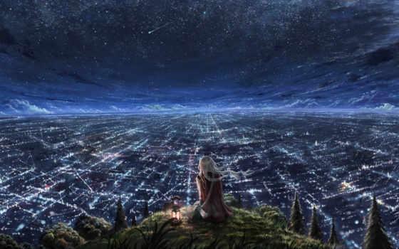 город, аниме