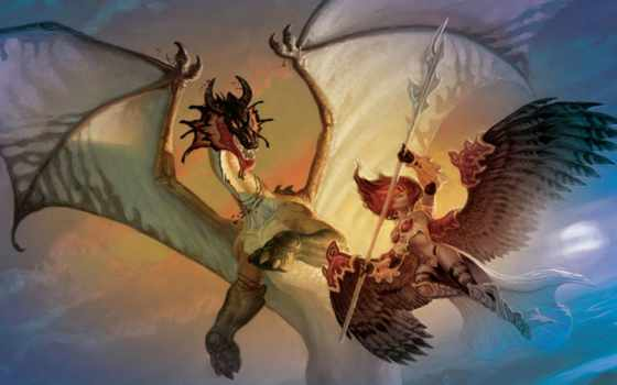 драконом, сражается, альбома
