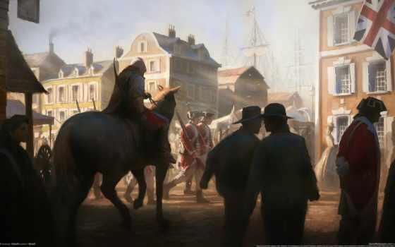 assassin, creed, лошади