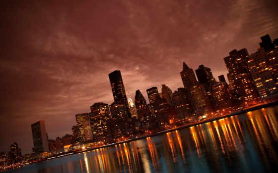 компьютера, york, ночь
