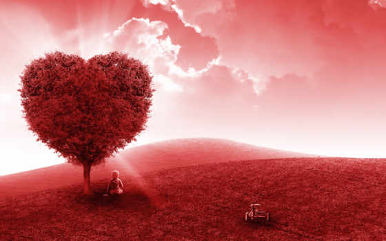 love, любви, дерево, jon, томас, черви, red, сердце,