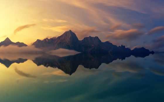 free, kartinik, гора, море, найти, использование, совершенн, отражение, dolor