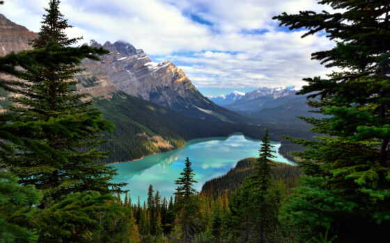 озеро, канада, louise, banff, ozery, гора, природа, landscape, national, park