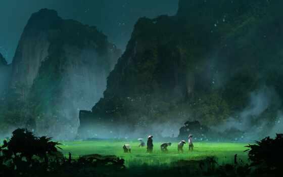 ферма, fantasy, farmer, долина, mobile, artwork