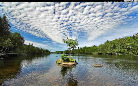 river, island