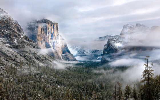 туман, yellowstone, les