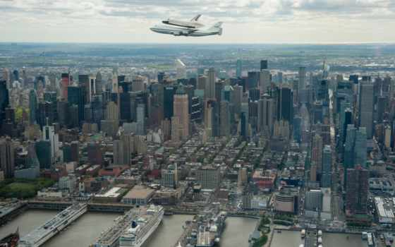 enterprise, shuttle, космос, intrepid, new, york, museum, море,