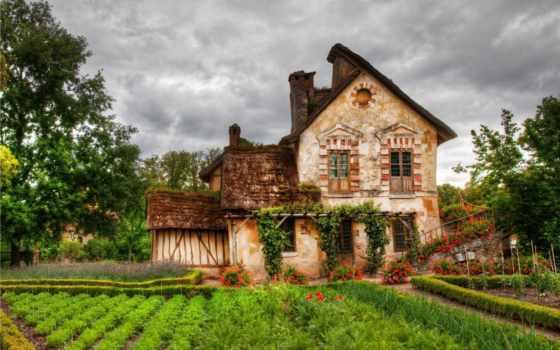 огород, lodge, hameau, cvety, если, будет, house, reine,