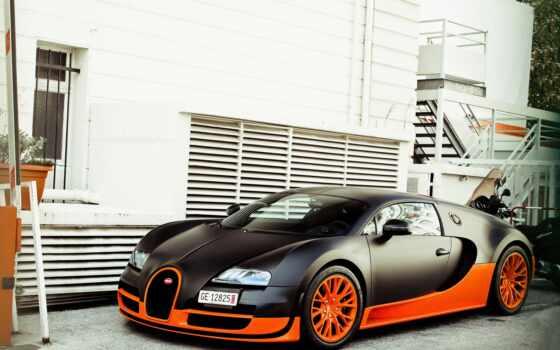 bugatto, veyron, car, спорт, oranye