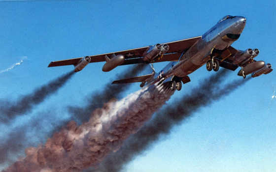 нравится, самолёт, boeing, been, rocket, military, jet, bomber, contrails, rato, assisted, smokey,